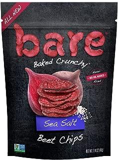 Bare Baked Crunchy Beet Chips, Sea Salt, Gluten Free, 1.4 Ounce Bag, 8 Count