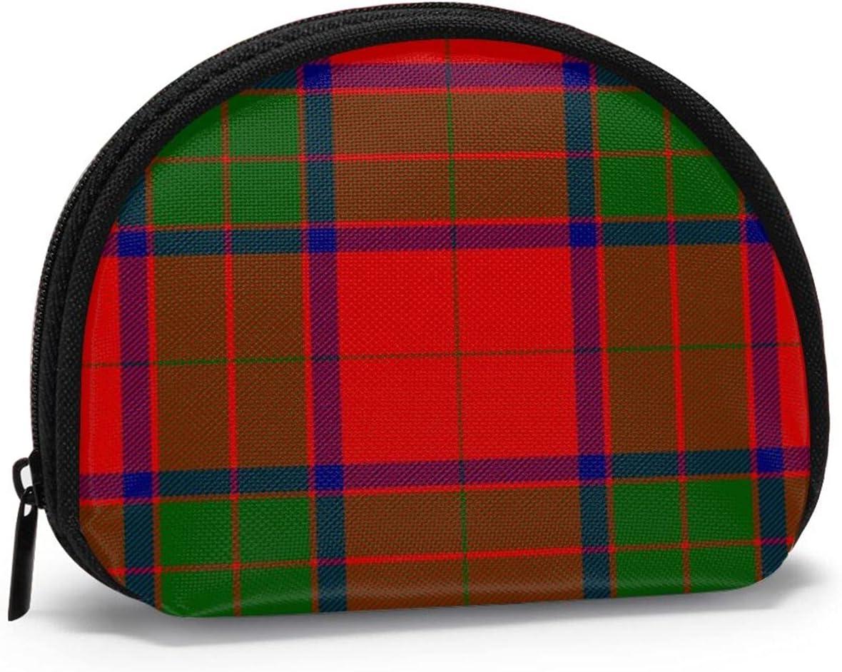 small zipper Coin Purses Vintage zipper Pouch Change Purse Wallets Clan Robertson Tartan