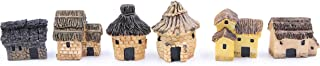 LeBeila Miniature Fairy Garden Stone Houses Mini Cottage House Miniatures Decor Accessories, 6 Fairies Gardening Decoration Kit for Outdoor, Patio, Micro Landscape, Yard Bonsai Decals (6PCS, Multi)