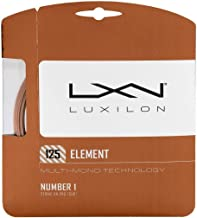 Luxilon Element 17 Gauge - 125mm Soft Polyester (Poly) Tennis Racquet String Set in Multi-Packs - Best for Power, Control, and Comfort (2-4-6-8-Packs)