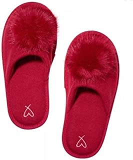 Victoria's Secret Pom Pom Pretty Red Slippers - Medium 7/8