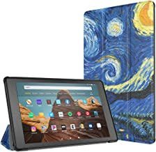 TiMOVO Slim Case for All-New Amazon Fire HD 10 Tablet (9th Generation, 2019 Release and 7th Generation, 2017 Release) - Ultra Lightweight Stand Cover Case for Fire HD 10.1 Inch Tablet, Starry Night