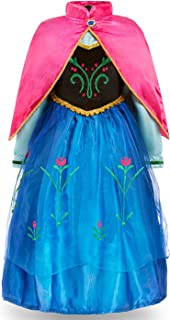 FUNNA Princess Costume for Toddler Girls Fancy Dress Party Blue