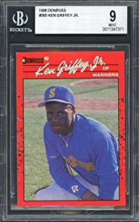 1990 donruss #365 KEN GRIFFEY JR seattle mariners BGS 9 - Baseball Slabbed Rookie Cards