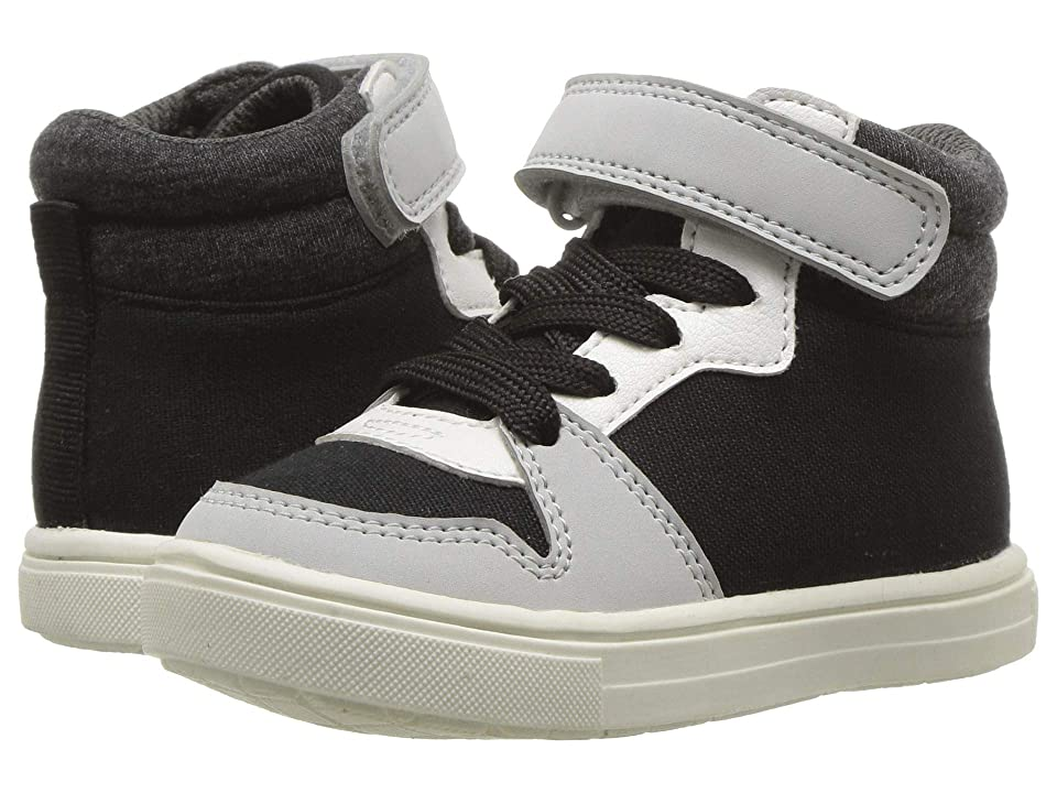 Carters Spy 2-B (Toddler/Little Kid) (Black Fine Canvas/Heather/Nubuck PU) Boy