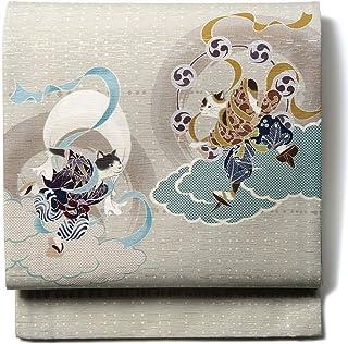 [でぃあじゃぱん]WAKKA 帯 京袋帯 正絹 風神 雷神 猫