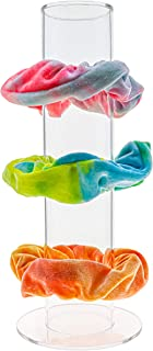 FROG SAC Acrylic Scrunchie Holder Stand, Girls Clear Scrunchy Tower, Hair Tie Accessories Organizer Holds A Lot Of Scrunch...