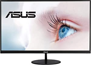 "ASUS VL249HE 23.8"" Eye Care Monitor, 1080P Full HD, 75Hz, IPS, Adaptive-Sync/FreeSync, Eye Care, HDMI VGA, Frameless Slim Design, VESA Wall Mountable"