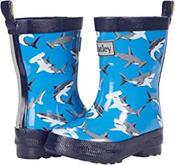 Deep-Sea Sharks Shiny Rain Boots (Toddler/Little Kid)