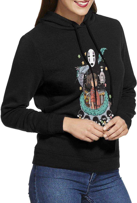 Ladies Spirited Away Sweatshirt Hoodie Long Sleeve Top 3D Printing Hooded Pullover