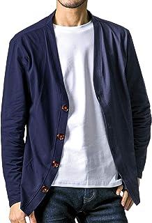 FTELA(フテラ) メンズ カーディガン ジャケット セーター 羽織 シンプル 無地 長袖 ボタン 春夏秋冬