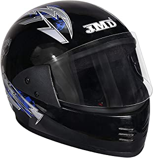 JMD Helmets Elegant Full Face Graphic Helmet for Men (Black and Blue, L)
