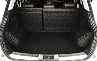 Auto mall Waterproof Custom Fit Full Covered Trunk Mats Cargo Liners Leather Boots Liner Pet Mats for BMW X3 2014-2017 (Black)
