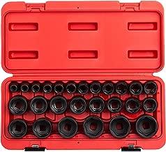 Sunex 2645, 1/2 Inch Drive Impact Socket Set, 26-Piece, Metric, 10mm-36mm, Cr-Mo Alloy Steel, Radius Corner Design, Heavy Duty Storage Case
