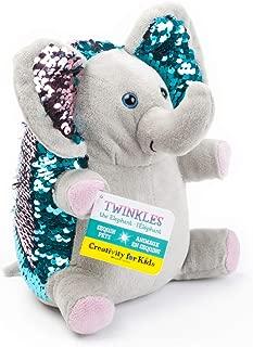 Creativity for Kids Mini Sequin Pets - Twinkles The Elephant Plush Toy - Elephant Stuffed Sequin Animal