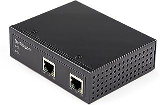 StarTech.com Industrial Single Port Gigabit PoE Extender - 60W 802.3bt PoE/PoE+/ PoE++ - 100m/ 330ft - Power Over Ethernet...