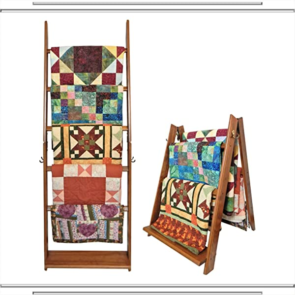 The LadderRack 2 In 1 Quilt Display Rack 5 Rung 24 Model American English