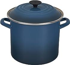وعاء معدني مطلي بالمينا من Le Creuset ، 8 لتر ، أزرق مخضر غامق