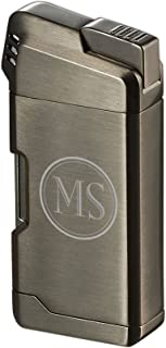 Personalized Visol Epirus Soft Flame Pipe Lighter With Free 2 Initial Engraving (Gunmetal)
