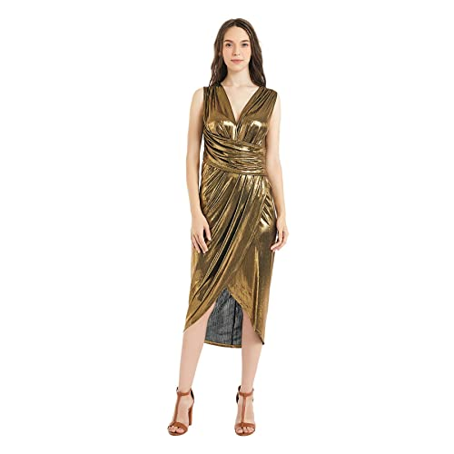5fe99551b1d71 The Kuul Women's V Neck Sleeveless Empire Waist Long Evening Dress Casual  Party Off Shoulder Fishtail