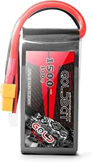 GOLDBAT 4S 1500mAh 100C 14.8V Lipo Battery Pack with XT60 Plug for RC Car Boat Truck Heli Airplane UAV Drone FPV Racing (1 pack)