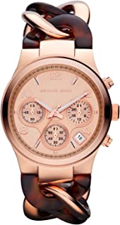 Michael Kors Women's Rose Gold Dial Stainless Steel Band Watch - MK4269
