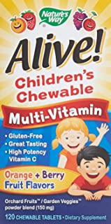 Natures Way Alive Childrens Natural Orange and Berry Multi-Vitamin Chewable Tablet, 120 per unit -- 1 each.