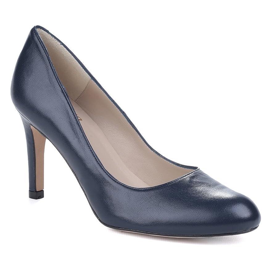 近々生む気になる(リーバ) Riva レディース プレーン ハイヒール パンプス 婦人靴 オフィス フォーマル シューズ 女性用 (5 UK) (ネイビー)