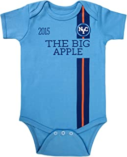 New York City Soccer Baby Newborn Boy Girl Bodysuits Onesie Short Sleeve Infant Cotton Clothes