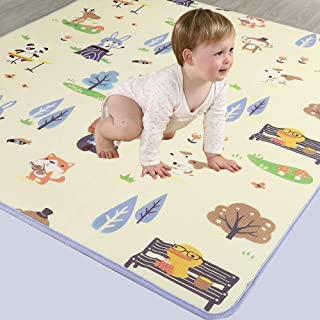 HLMIN Baby Play Mat Thick Baby Crawling Mat Non-Toxic Double-Sided Waterproof Children Play Mat Carpet For Baby Toddler Ki...