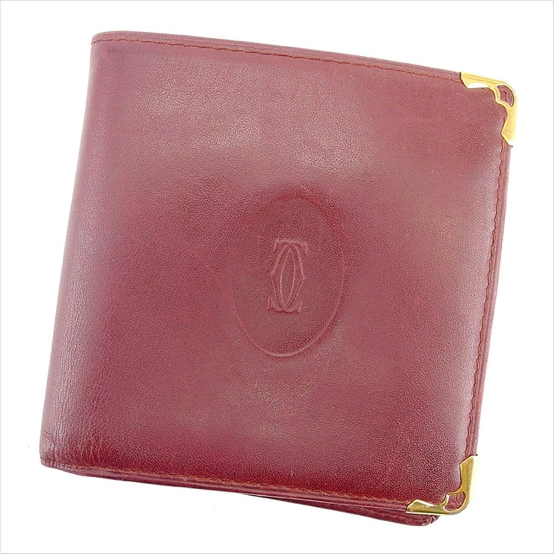 早くジェスチャー批判するカルティエ Cartier 二つ折り財布 ユニセックス マストライン 中古 T758