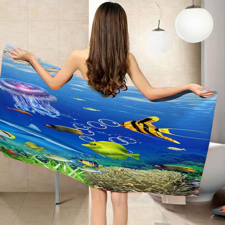 Spasm price CGBNDS Bath Towel Oversized Anime New item Be World Underwater Microfiber