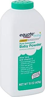 Equate Pure Cornstarch Baby Powder Aloe Vera and Vitamin E (15 oz 2 Pack)