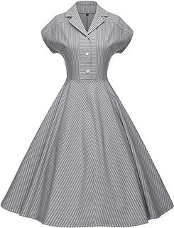 Women's 1950s Retro Vintage Cocktail Party Swing Dress