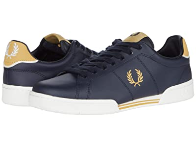 Fred Perry B722 Leather (Navy/1964 Gold) Men