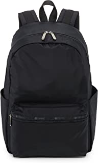 LeSportsac Black Carson Backpack/Rucksack, Style 3426/Color 5982, Classic Black Carryall Backpack, Many Pockets, Great for...