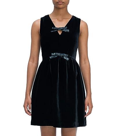Kate Spade New York Sequin Bow Velvet Dress Women