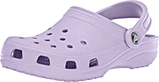 Crocs Classic Clog Comfortable Slip On Casual Water Shoe, Lavender, 8 M US Women / 6 M US Men