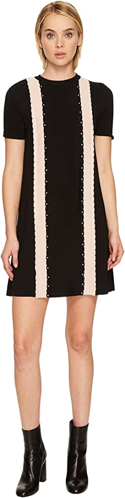 RED VALENTINO - Stretch Viscose Yarn Dress