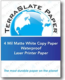 "TerraSlate Paper 4 MIL 8.5"" x 11"" Waterproof Laser Printer/Copy Paper 250 Sheets"