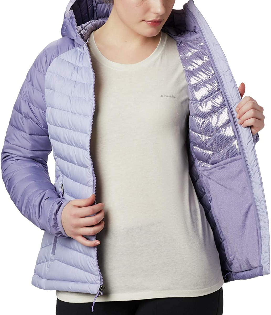Columbia Women/'s Powder Lite Hooded Winter Jacket Water repellent