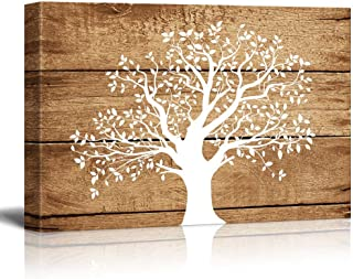 wall26 - Artistic Abstract Tree on Vintage Wood - Canvas Art Wall Decor -24