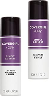 Covergirl Simply Ageless Oil Free Make Up Primer, Pack of 2