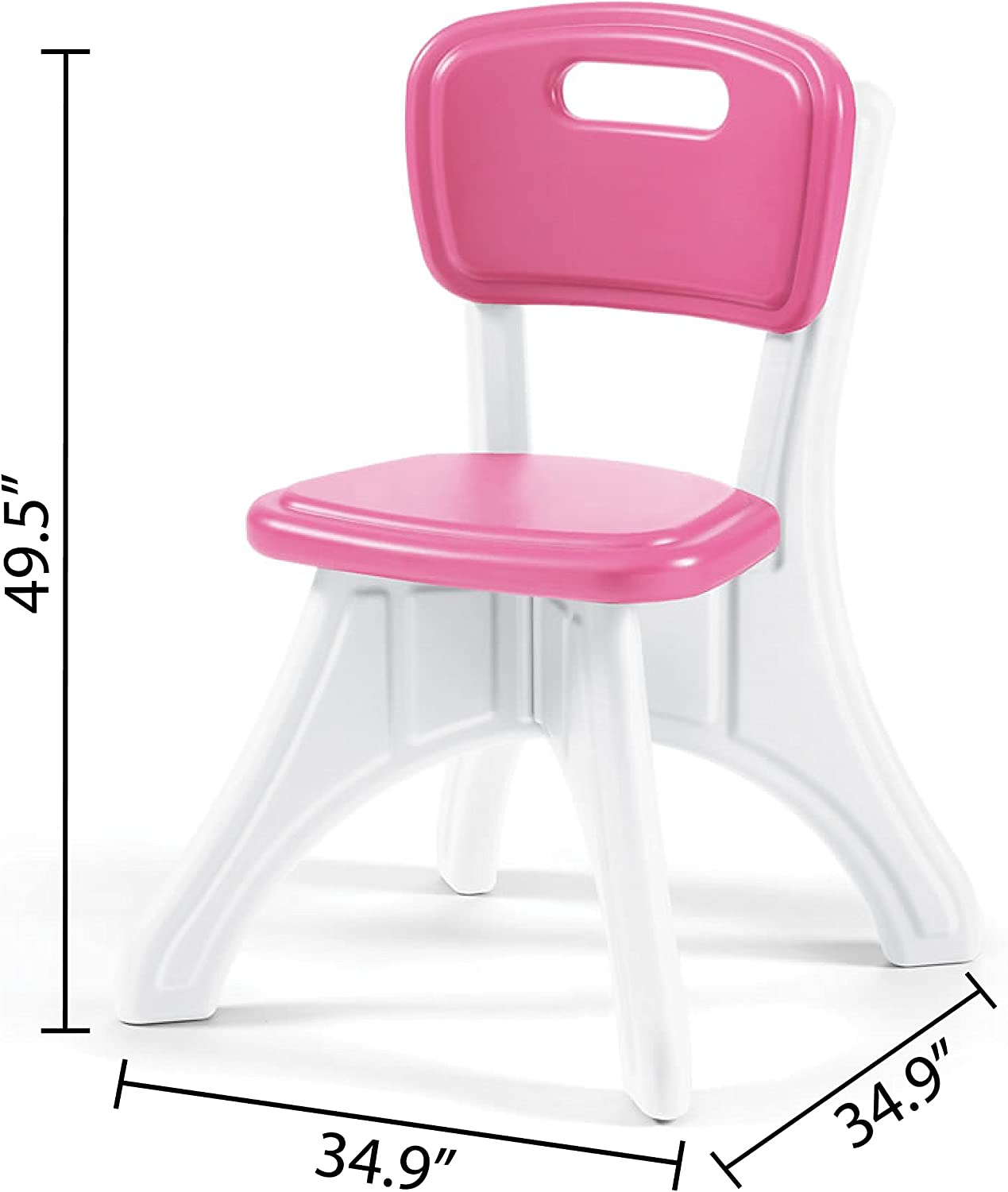 Amazon.com Step9 LifeStyle Kitchen Table and Chairs Set, Pink ...