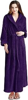 Image of Comfortable Soft Long Fleece Bathrobe for Women - See More Colors