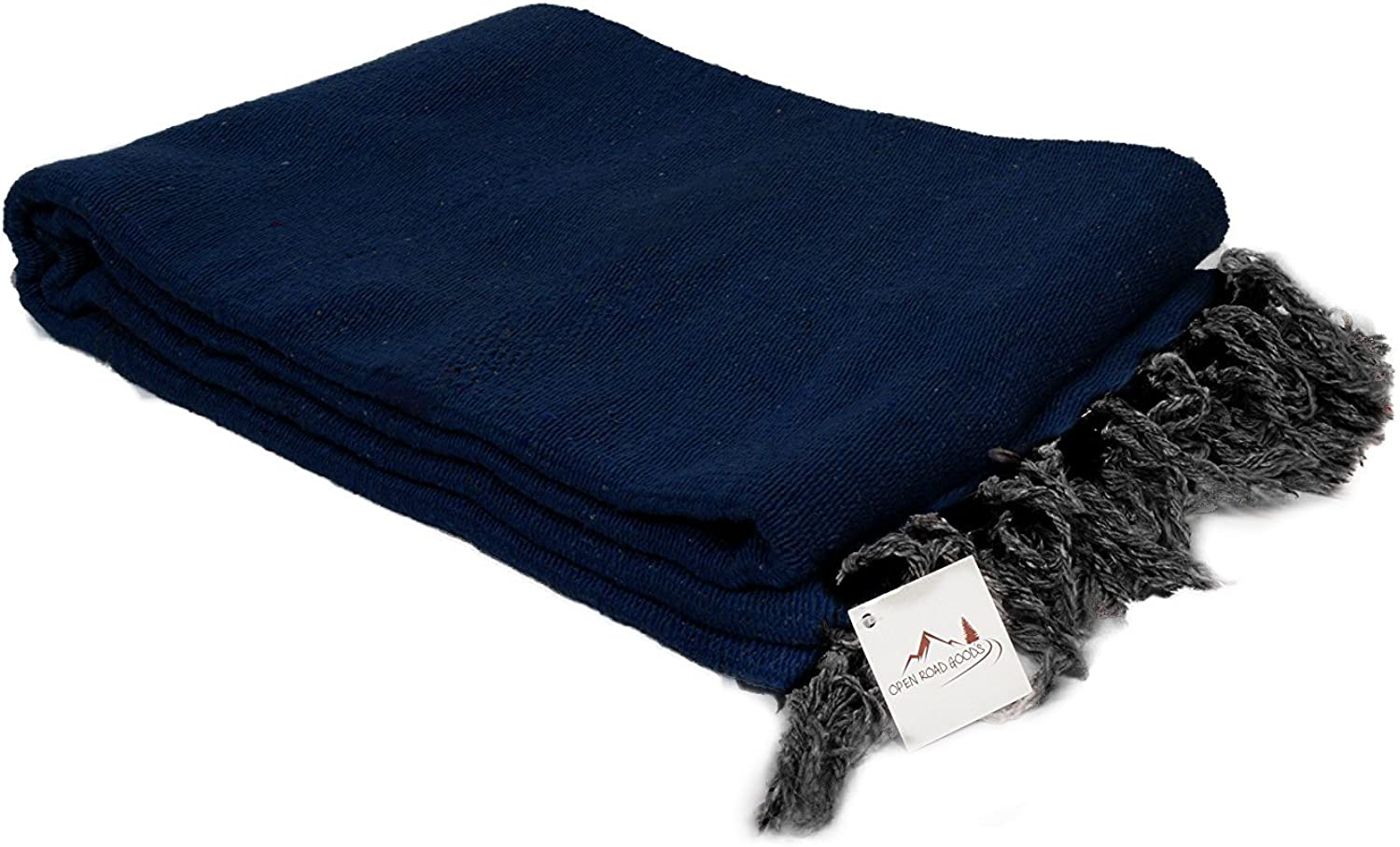 Open Road Goods Handmade Solid color Yoga Blanket  Thick Mexican Blanket or Throw  Made for Yoga