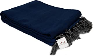Open Road Goods Handmade Solid Color Yoga Blanket - Thick Mexican Blanket or Throw - Made for Yoga!