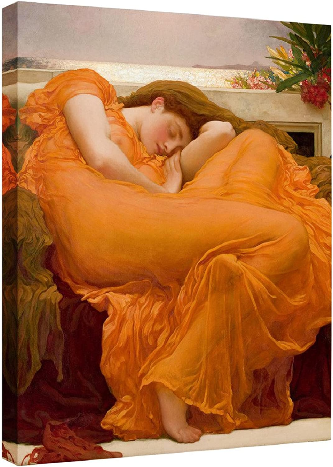 Eliteart-Flaming June By Frederic Leighton Composition Oil Painting Reproduction Giclee Wall Art Canvas Prints