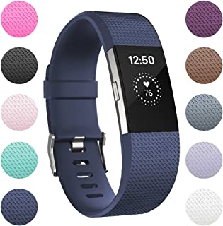 RedTaro Replacement Bands for Fitbit Charge 2, Classic Special Edition Sport Wristbands for Women Men