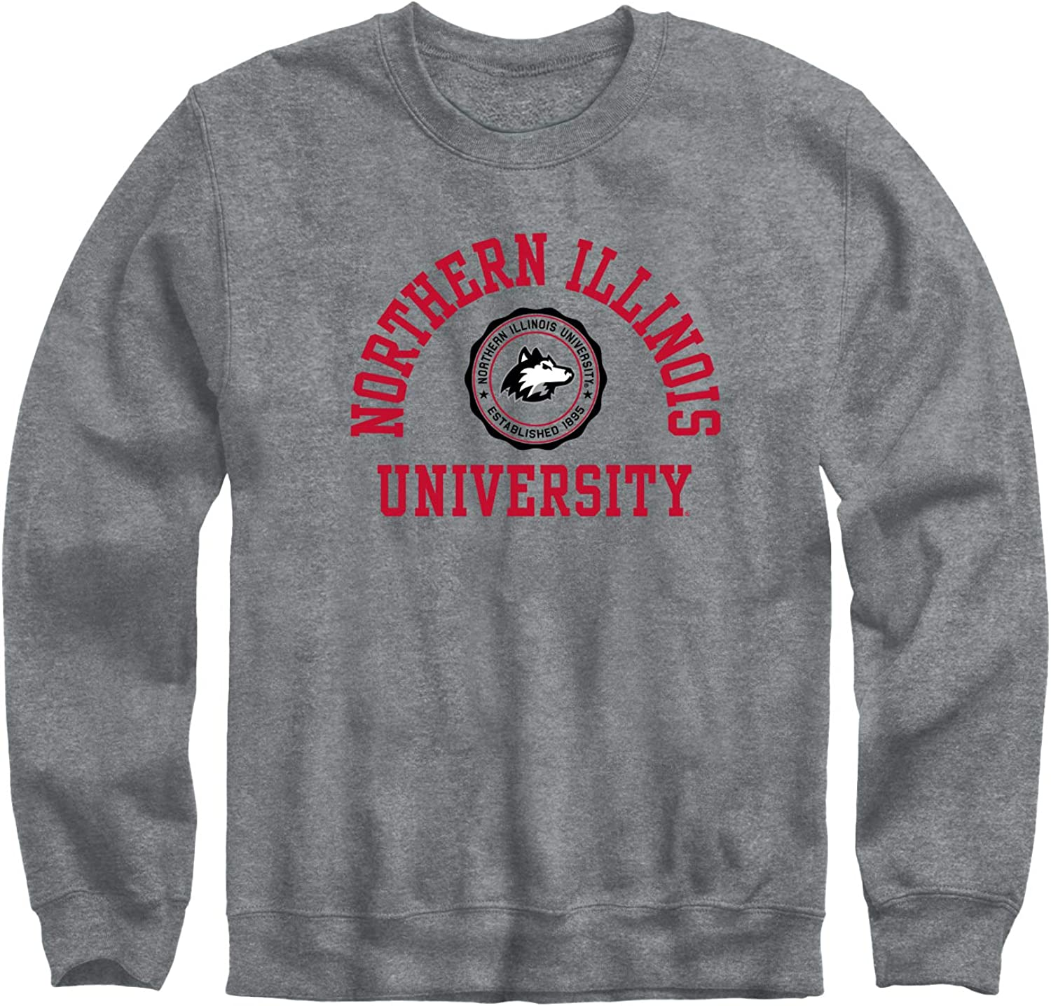 Ivysport Crewneck Sweatshirt Heritage Logo Grey NCAA Colleges and Universities Cotton//Poly Blend